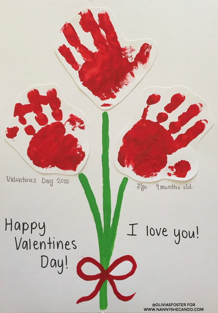 Handprint Flowers Card | 25+ Valentine Crafts for Kids