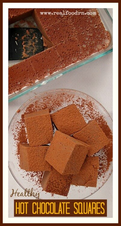 Healthy Hot Chocolate Squares