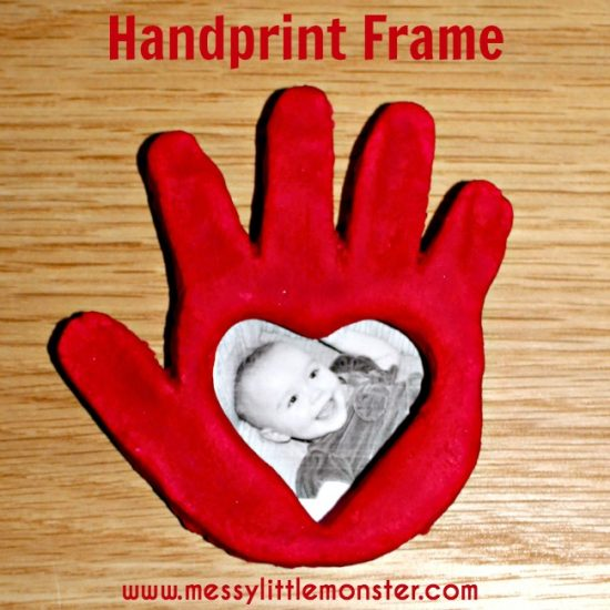 Heart Handprint Frame | 25+ Valentine Crafts for Kids