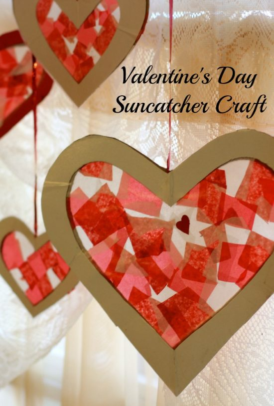 Heart Suncatcher | 25+ Valentine Crafts for Kids