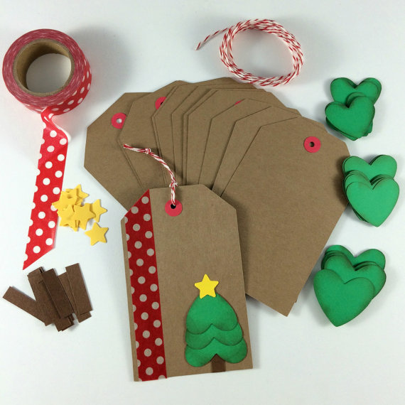 Heart Tree Gift Tag | 25+ Handmade Christmas Cards