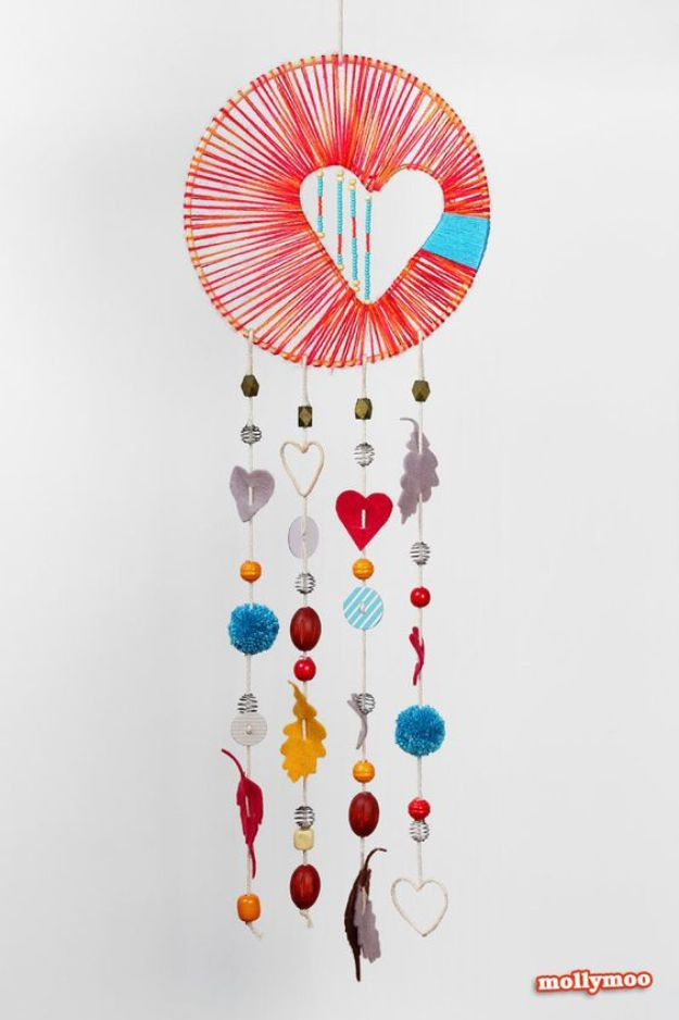 DIY Dream Catchers - Heart of Hope Dreamcatcher - How to Make a Dreamcatcher Step by Step Tutorial - Easy Ideas for Dream Catcher for Kids Room - Make a Mobile, Moon Designs, Pattern Ideas, Boho Dreamcatcher With Sticks, Cool Wall Hangings for Teen Rooms - Cheap Home Decor Ideas on A Budget http://diyprojectsforteens.com/diy-dreamcatchers