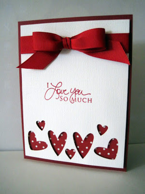 Cut out hearts card