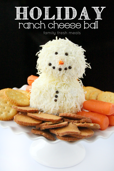 Holiday ranch cheese ball - 25+ snowman crafts and fun food ideas - NoBiggie.net