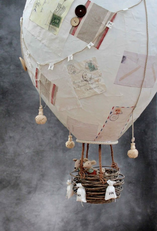 Creative Paper Mache Crafts - Make A Giant Papier Mache Hot Air Balloon - Easy DIY Ideas for Making Paper Mache Projects - Cool Newspaper and Paper Bag Craft Tips - Recipe for for How To Make Homemade Paper Mashe paste - Halloween Masks and Costume Tutorials - Sculpture, Animals and Ideas for Kids http://diyprojectsforteens.com/paper-mache-crafts