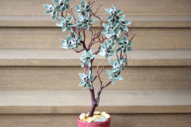 How to Make a Money Tree | 25+ Graduation gift Ideas