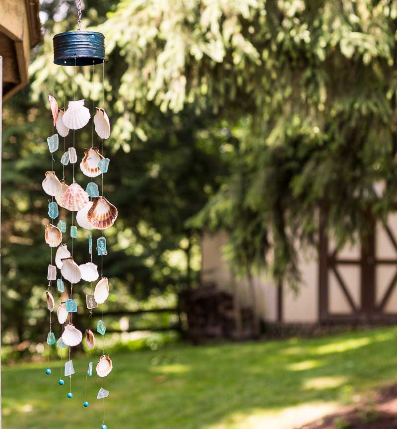 How to Make a Seashell and Sea Glass Wind Chime