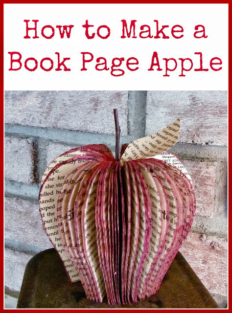 How to make a book page apple - 25+apple projects and kids crafts - NoBiggie.net
