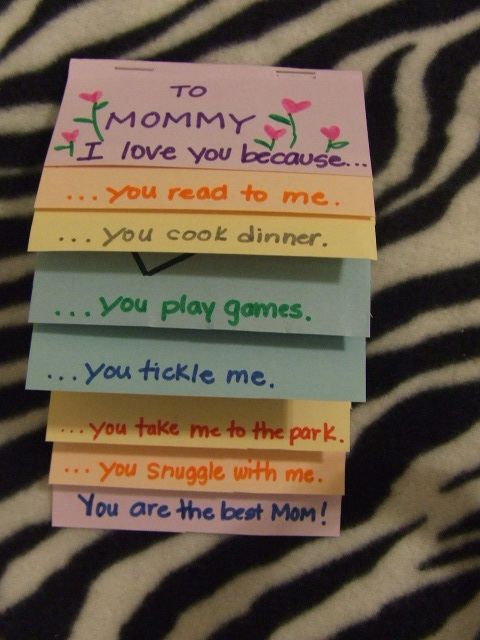 I Love You Because Card | 25+ Mother's Day Gift Ideas
