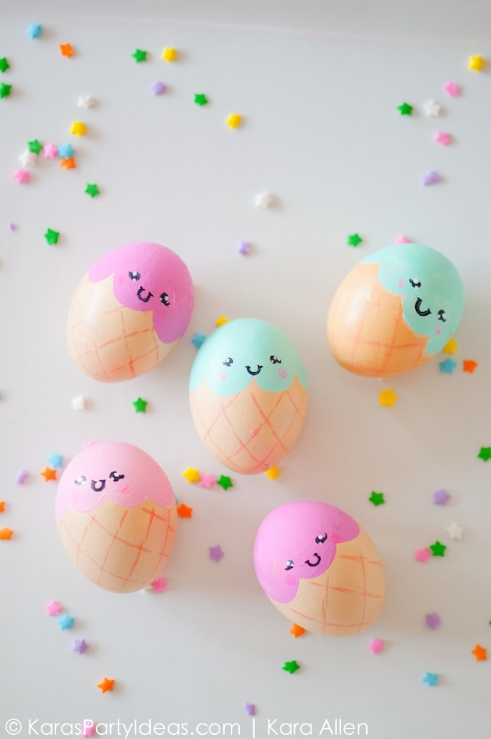 Ice Cream Cone Eggs | 25+ MORE ways to decorate Easter Eggs