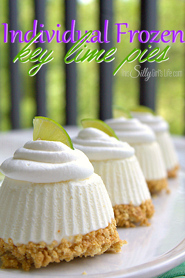 Individual Frozen key lime pies | 25+ No Bake Desserts