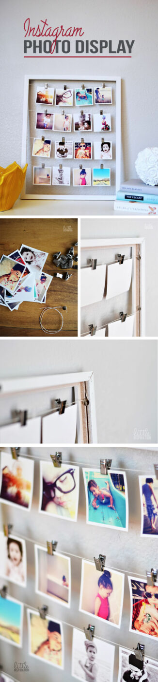 Bedroom Project Ideas DIY Photo Display Project