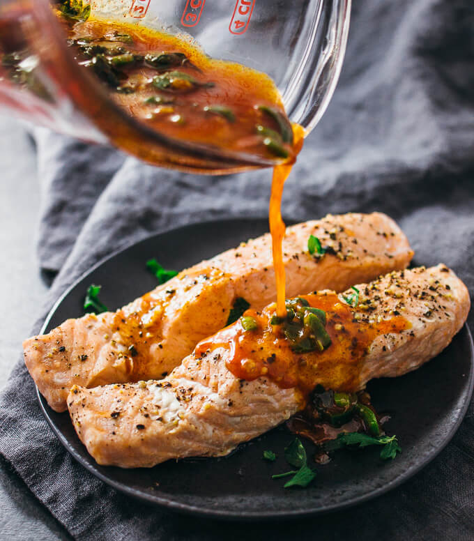 Instant Pot Salmon with Chili-Lime Sauce   25+ Savory Instant Pot Recipes