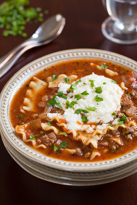 Lasagna Soup | 25+ delicious soup recipes