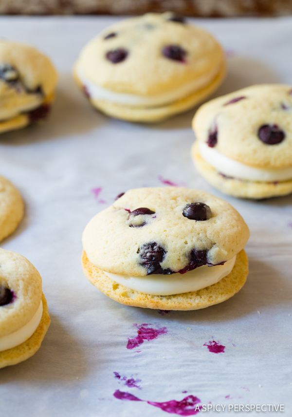 Lemon Blueberry Whoopie Pies | 25+ Whoopie Pies