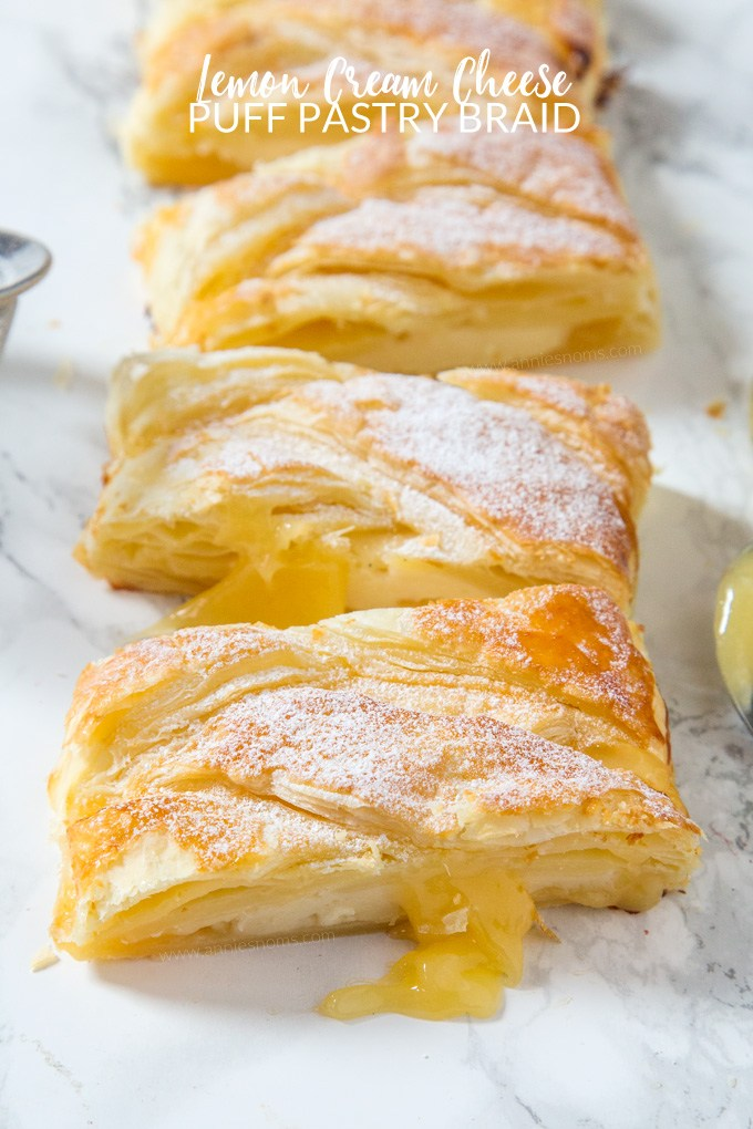 Lemon Cream Cheese Puff Pastry Braid | 25+ Cream Cheese Recipes