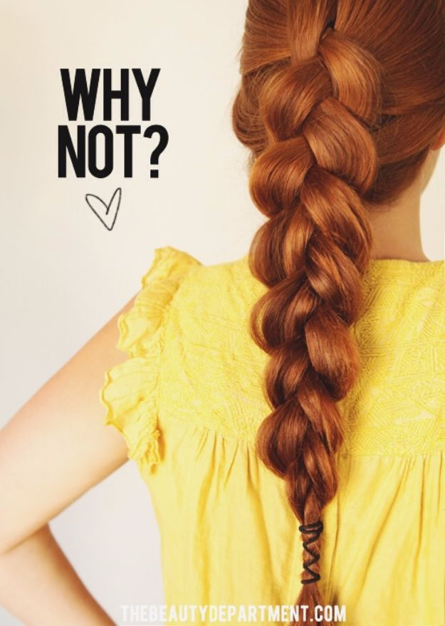Easy Braids With Tutorials - Loose Big Braid - Cute Braiding Tutorials for Teens, Girls and Women - Easy Step by Step Braid Ideas - Quick Hairstyles for School - Creative Braids for Teenagers - Tutorial and Instructions for Hair Braiding http://diyprojectsforteens.com/easy-braids-tutorials