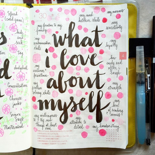 Love about myself | 25+ Bullet Journal Ideas