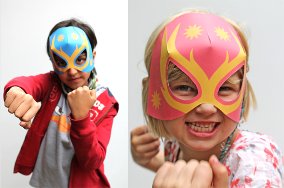 Lucha Libre Masks Free Printables | 25+ Cinco de Mayo Ideas