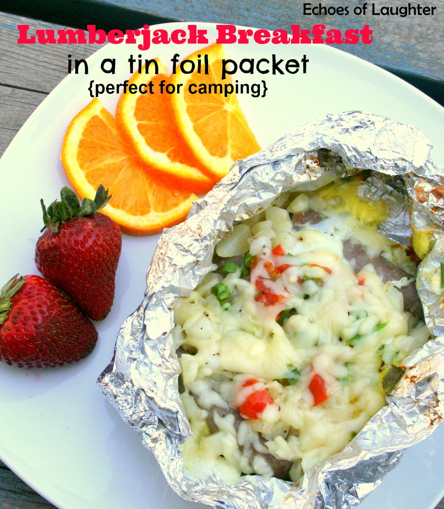 Lumberjack Breakfast in a tin foil packet | 25+ easy camping recipes