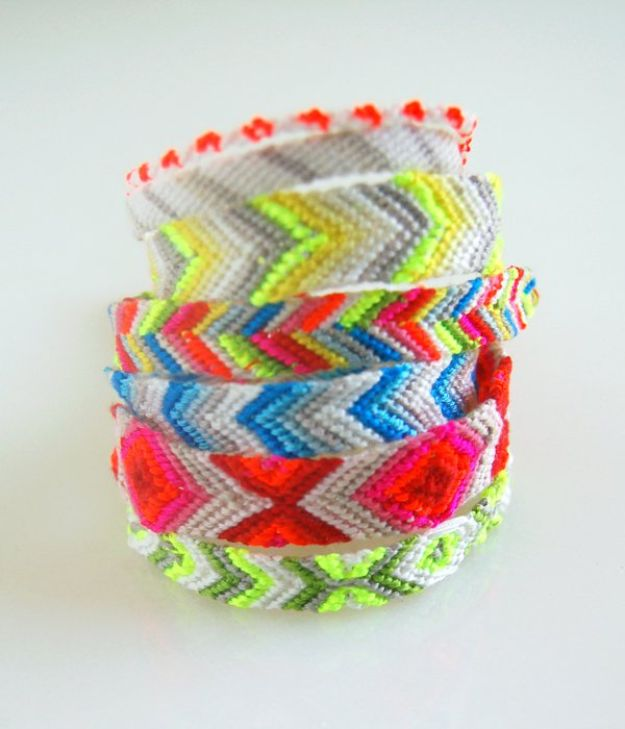 DIY Friendship Bracelets - Macraméd Friendship Bracelets - Woven, Beaded, Leather and String - Cheap Embroidery Thread Ideas - DIY gifts for Teens