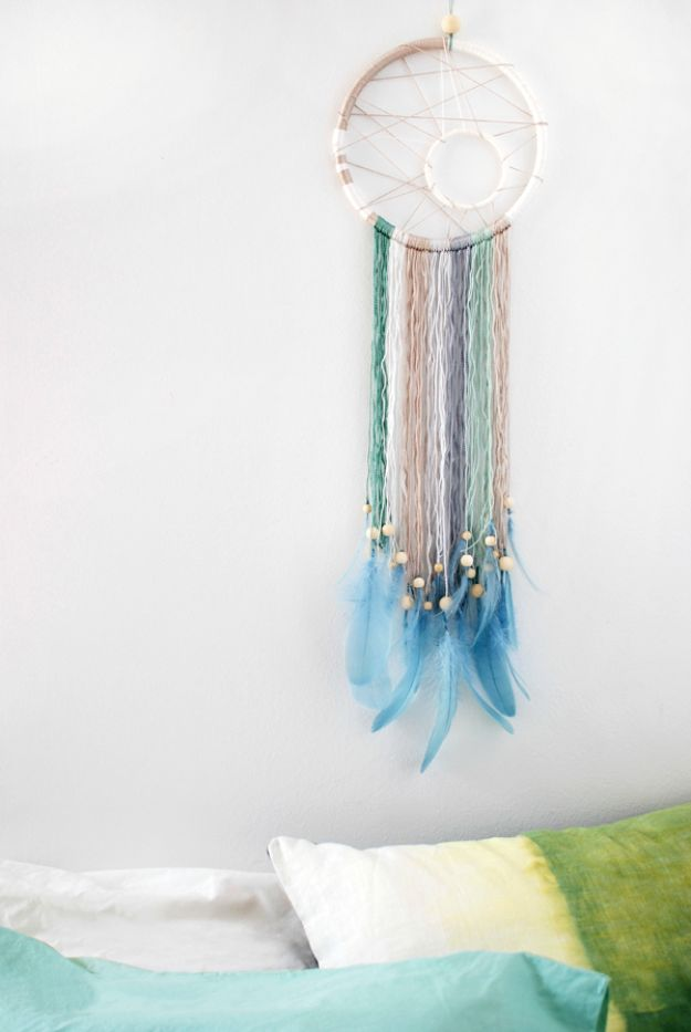 DIY Dream Catchers - Make a Modern Dreamcatcher - How to Make a Dreamcatcher Step by Step Tutorial - Easy Ideas for Dream Catcher for Kids Room - Make a Mobile, Moon Designs, Pattern Ideas, Boho Dreamcatcher With Sticks, Cool Wall Hangings for Teen Rooms - Cheap Home Decor Ideas on A Budget http://diyprojectsforteens.com/diy-dreamcatchers