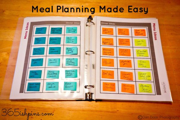 Meal Planning Made Easy | 25+ Post It Note DIY Ideas