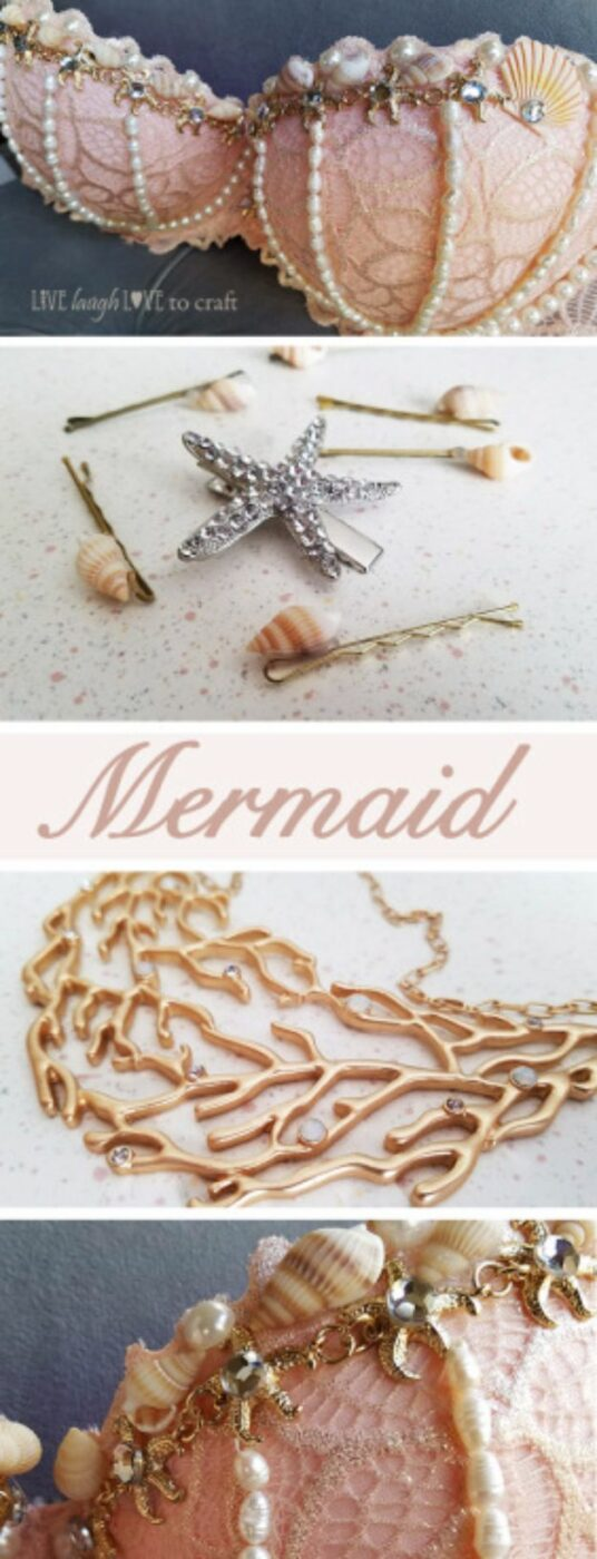 DIY Mermaid Crafts - Mermaid Costume And Accessories For Less - How To Make Room Decorations, Art Projects, Jewelry, and Makeup For Kids, Teens and Teenagers - Mermaid Costume Tutorials - Fun Clothes, Pillow Projects, Mermaid Tail Tutorial http://diyprojectsforteens.com/diy-mermaid-crafts