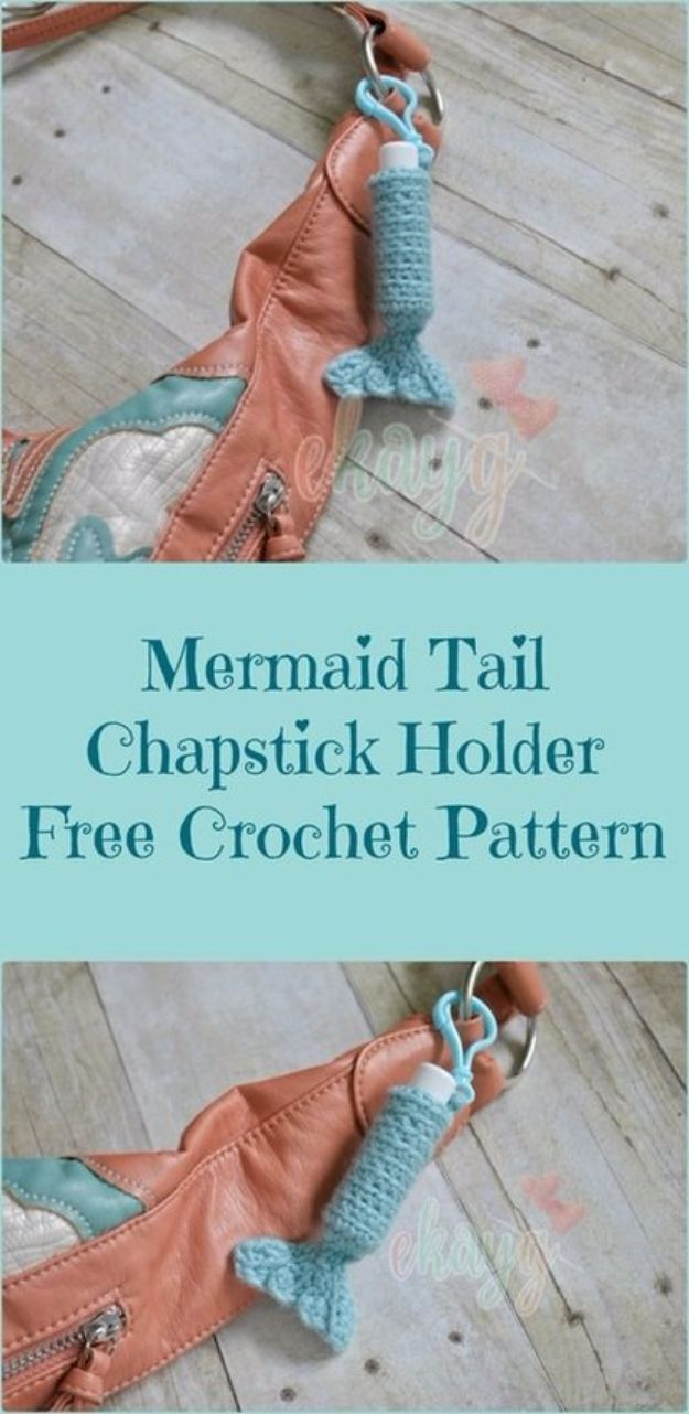 DIY Mermaid Crafts - Mermaid Tail ChapStick Holder - How To Make Room Decorations, Art Projects, Jewelry, and Makeup For Kids, Teens and Teenagers - Mermaid Costume Tutorials - Fun Clothes, Pillow Projects, Mermaid Tail Tutorial http://diyprojectsforteens.com/diy-mermaid-crafts