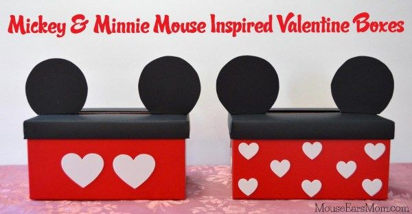 Mickey and Minnie Mouse Inspired Valentine Box