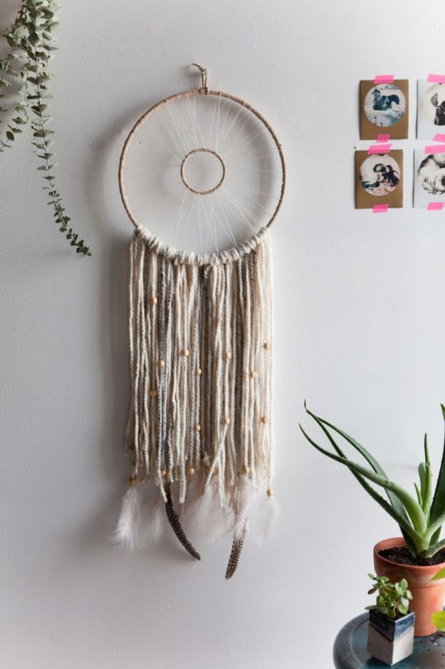 DIY Dream Catchers - Modern Woven Dreamcatcher - How to Make a Dreamcatcher Step by Step Tutorial - Easy Ideas for Dream Catcher for Kids Room - Make a Mobile, Moon Designs, Pattern Ideas, Boho Dreamcatcher With Sticks, Cool Wall Hangings for Teen Rooms - Cheap Home Decor Ideas on A Budget http://diyprojectsforteens.com/diy-dreamcatchers