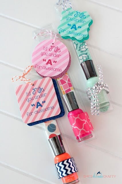 Nail File and Polish + 25 Handmade Gift Ideas for Teacher Appreciation - the perfect way to let those special teachers know how important they are in the lives of your children!