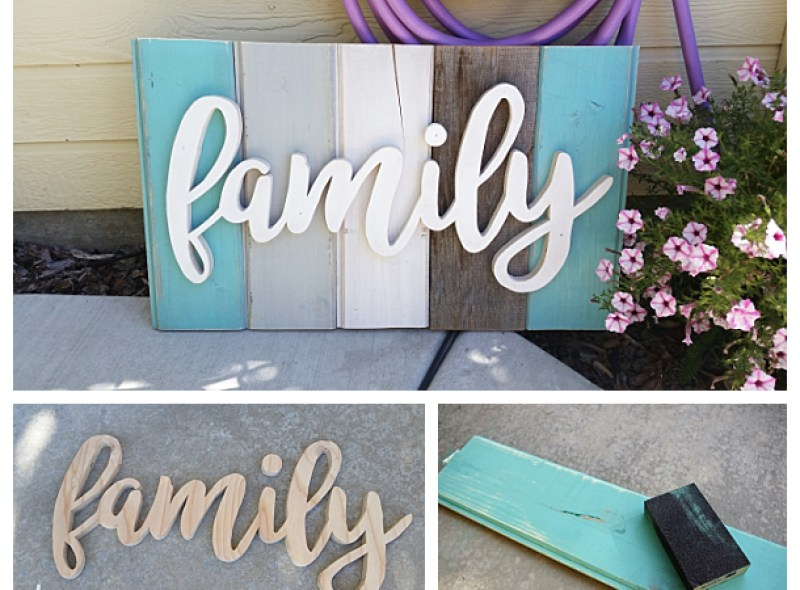 """New """"Old"""" Distressed Barn Wood Word"""