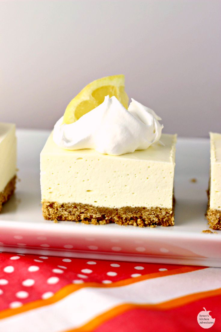 No Bake Lemon Cheesecake Squares | 25+ No Bake Desserts