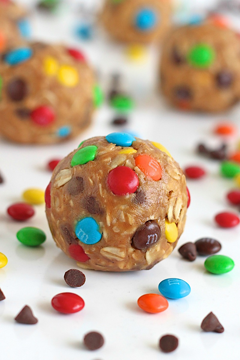 No-Bake Monster Cookie Balls | 25+ No Bake Desserts
