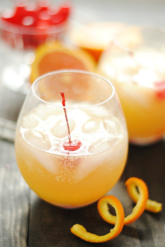 Orange Swizzle | 25+ Non-Alcoholic Punch Recipes