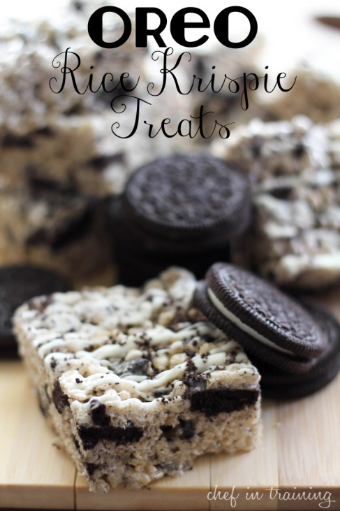 Oreo Rice Krispie Treats | 25+ Rice Krispie Treat Ideas