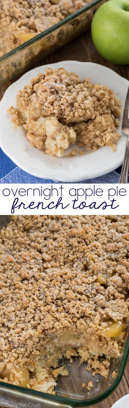 Overnight Apple Pie French Toast | 25+ apple recipes