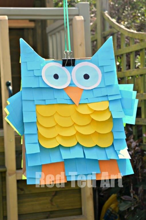 Owl Piñata | 25+ Post It Note DIY Ideas