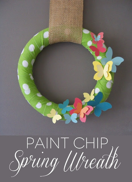 Paint Chip Spring Wreath | 25+ Spring wreaths