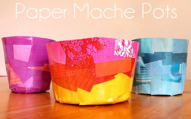 Creative Paper Mache Crafts - Paper Mache Pots - Easy DIY Ideas for Making Paper Mache Projects - Cool Newspaper and Paper Bag Craft Tips - Recipe for for How To Make Homemade Paper Mashe paste - Halloween Masks and Costume Tutorials - Sculpture, Animals and Ideas for Kids http://diyprojectsforteens.com/paper-mache-crafts