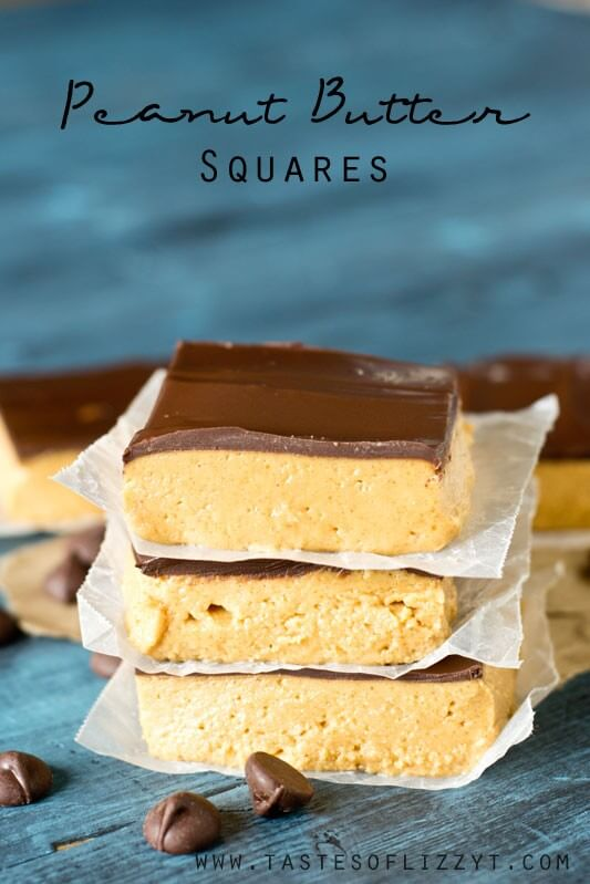 Peanut Butter Squares | 25+ MORE Peanut butter and Chocolate desserts