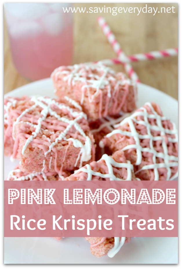 Pink Lemonade Rice Krispie Treats Recipe | 25+ Rice Krispie Treat Ideas