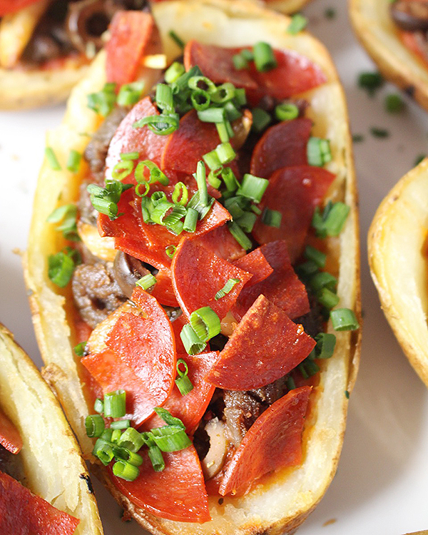 Pizza Potato Skins | 25+ Potato Skin Recipes