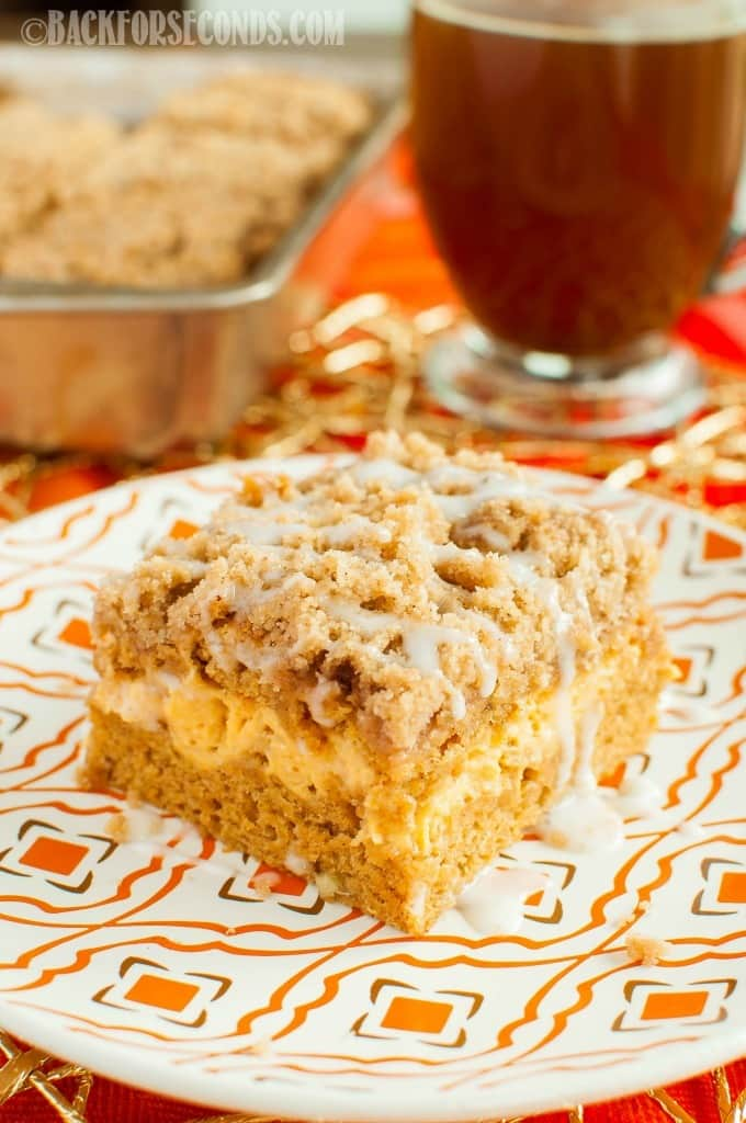 Pumpkin Cream Cheese Coffee Cake with Streusel | 25+ More Sweet Pumpkin Recipes
