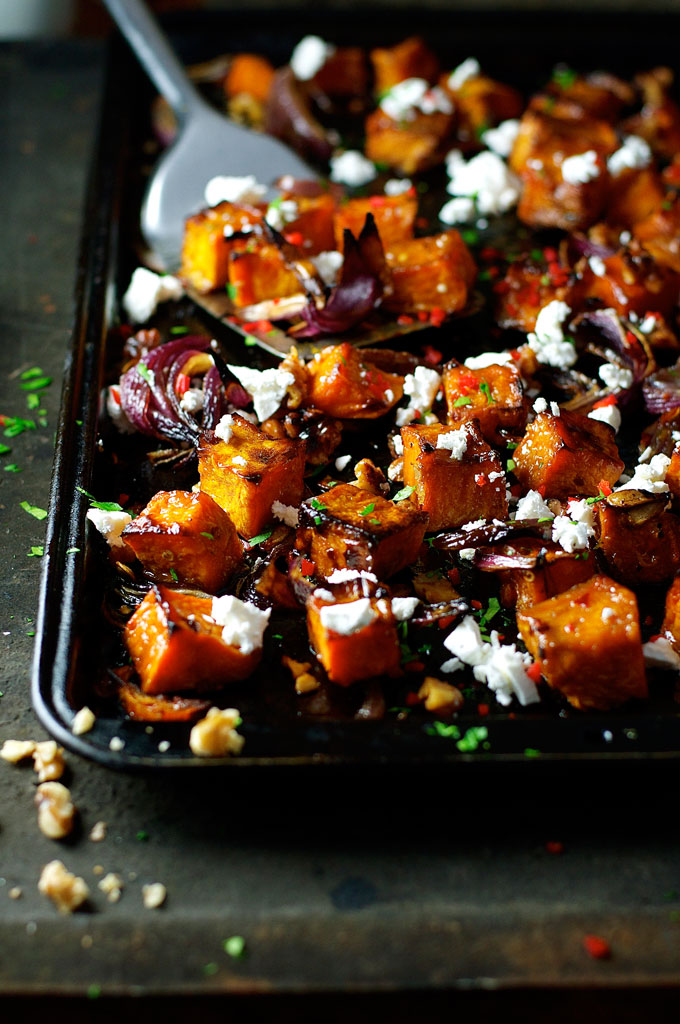 Raosted Pumpkin with Maple, Chili and Feta | 25+ Savory Pumpkin Recipes