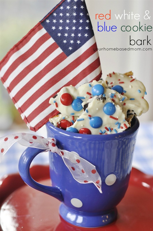 Red White and Blue Cookie Bark | 25+ Patriotic Treats