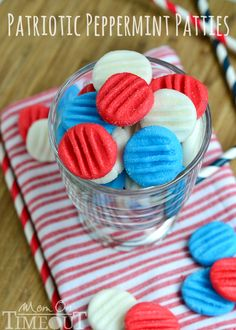 Red White and Blue Patriotic Peppermint Patties | 25+ Patriotic Treats