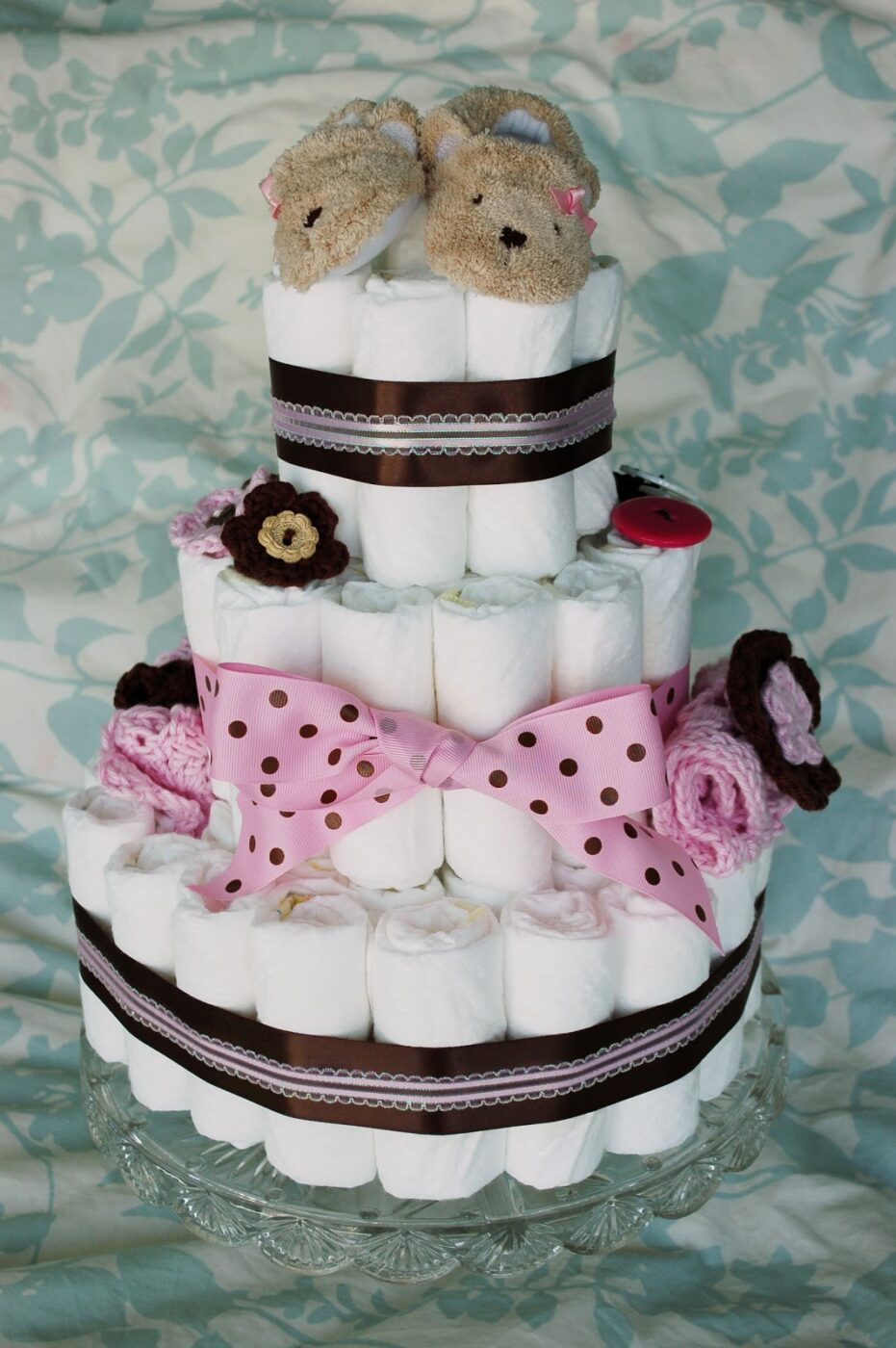Ribbon Bow Diaper Cake