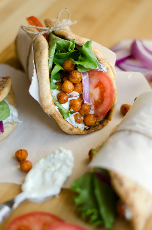 Roasted Chickpea Gyros | 25+ Chickpea Recipes